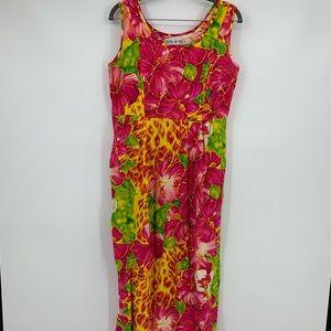 Jams World women's dress aloha floral tropical